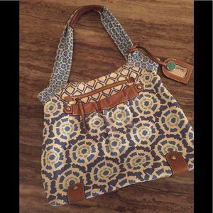 FOSSIL tote STYLE W/MAGNETIC CLOSURE 20X16X4x121/2